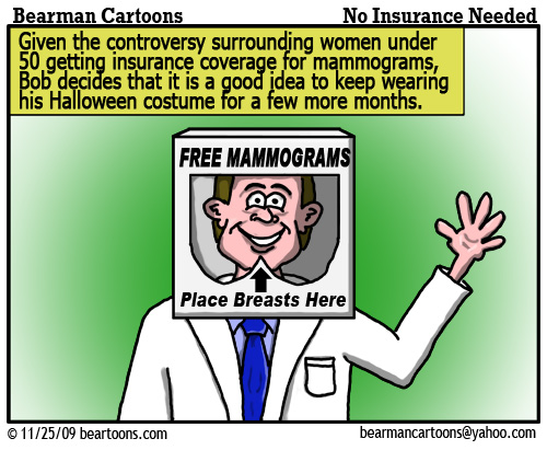 11 25 09 Bearman Cartoon Free Mammograms