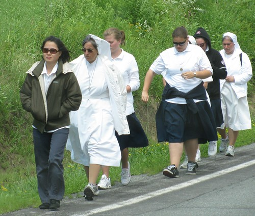 Nuns Marching