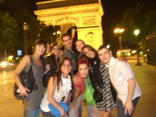 In front of tha Arc du Triomphe