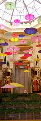 Umbrellas & fountain in the Palazzo in Las Vegas