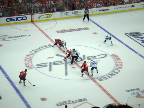 Opening faceoff at VC 2009-10