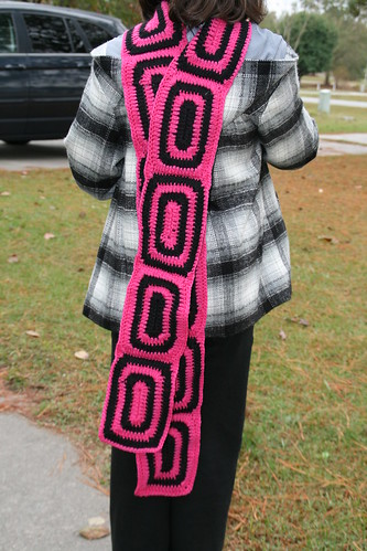 Crochet Granny Rectangle Scarf