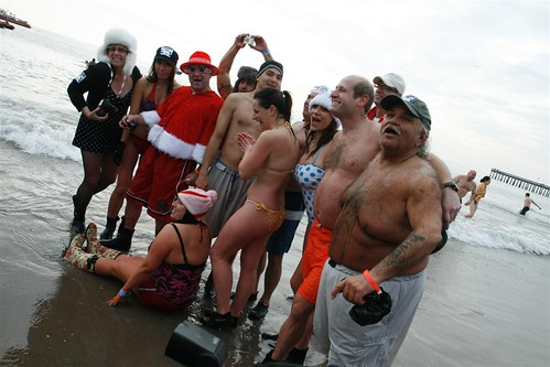 Formal Pose, Members of the Coney Island Polar Bear Club at New Year's Swim. Photo © Bruce Handy/Pablo 57 via flickr