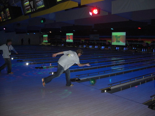 Jeremy Palmer rolls another strike