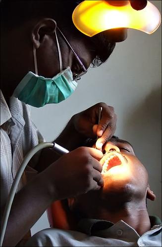 Dentist on work