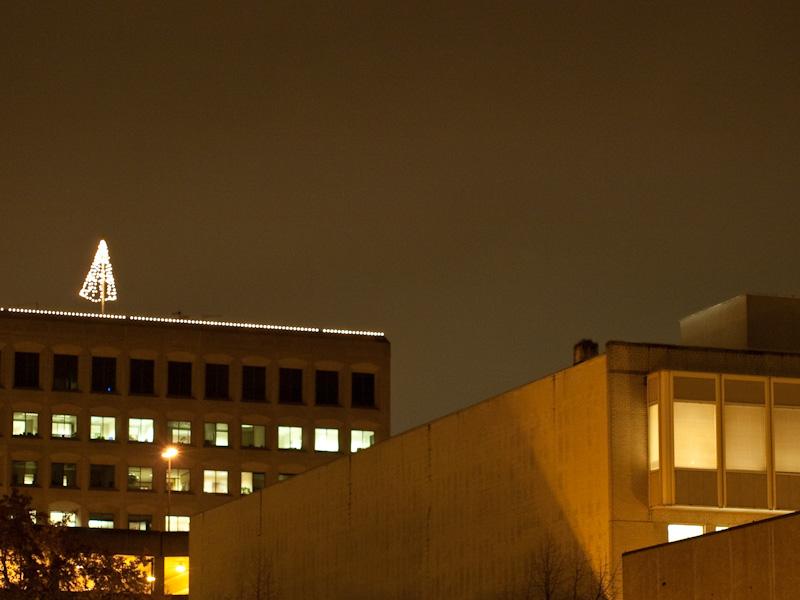 Holiday Spirit atop the Key Bank building