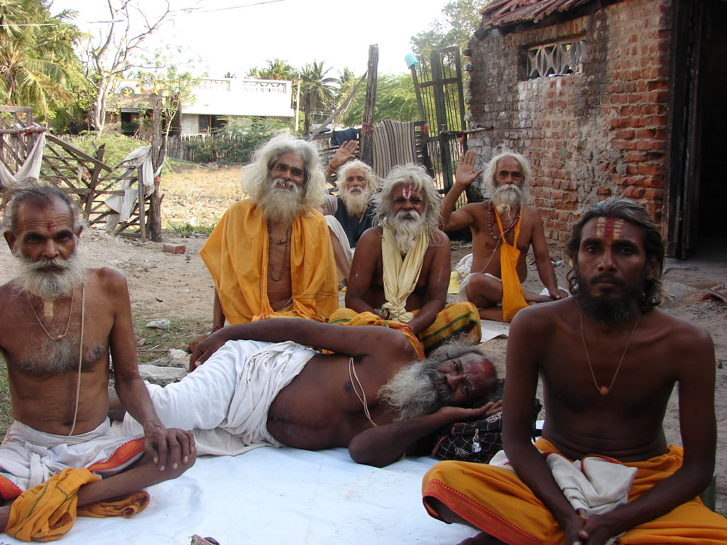 The Saadhus at Rameswaram