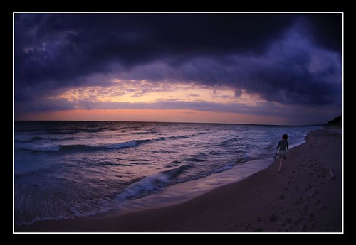 Sunset with Spouse - Lake Michigan