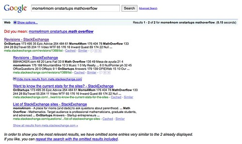 moms4mom onstartups mathoverflow - Google Search (by mahemoff)