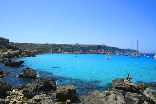 Cala Rossa on Favignana Island, Sicily, Italy