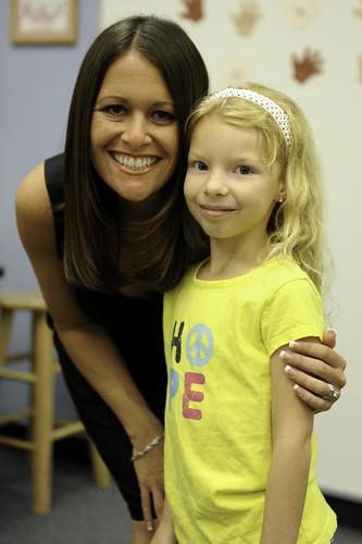 233/365: Hope & her second grade teacher
