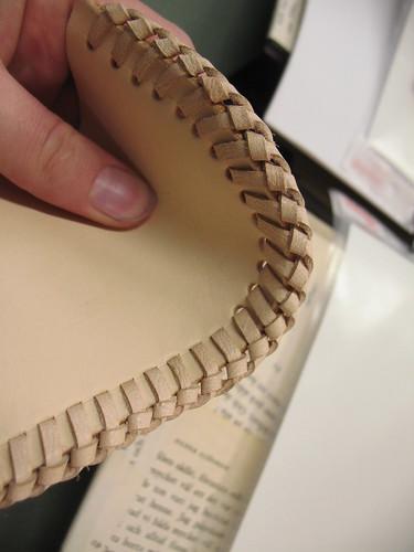 leatherworking - seams close up