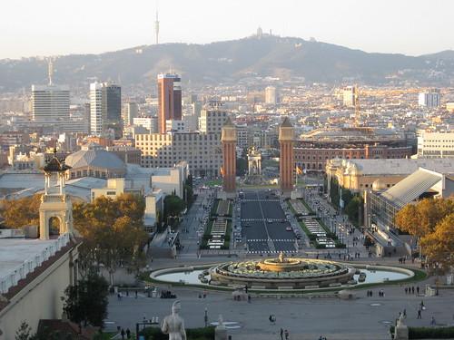 Sicht auf Barcelona