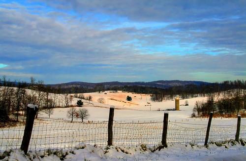 Farmland in Snow