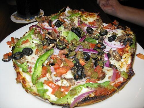 Chicago style veggie pizza