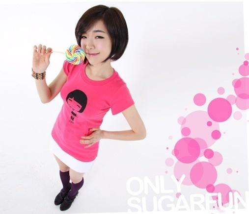 SNSD-inspired. Looks like a cartoon version of her on her shirt