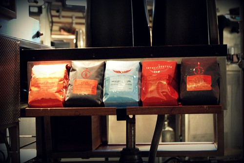The coffee selection at Intelligentsia Venice by you.