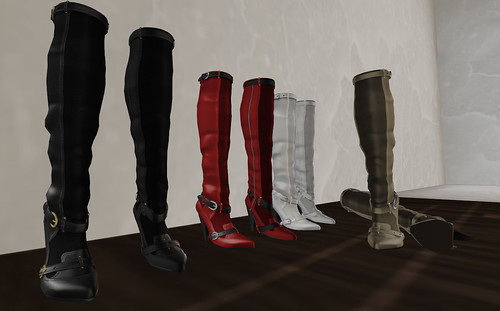 LAQ knee high boots colors