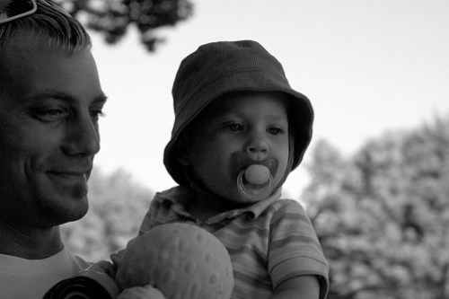 My brother, Joel, with Oliver
