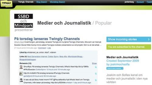 Twingly Channels / Medier och Journalistik
