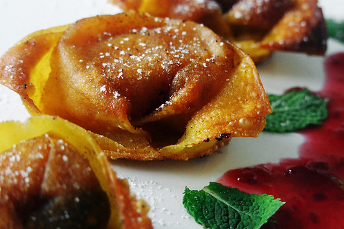 Apple, Currant & Cinnamon Custard Wontons 2/2