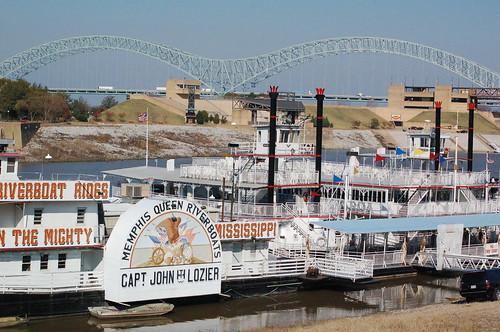 Riverboats docked at Memphis