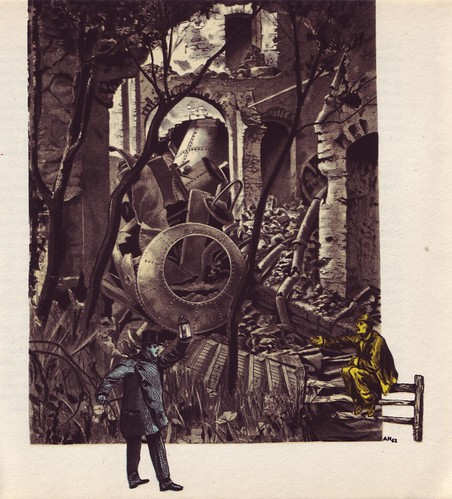 Adolf Hoffmeister, 1964, illus. for Czech trans. of Well's First Men in the Moon