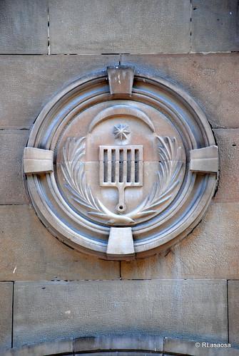 Detalle de la fachada de la Iglesia de San Lorenzo, en el Rincón de la Aduana