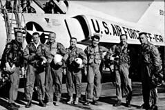 Original test pilots for the Mercury Project