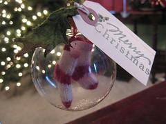 handmade, handknit ornament