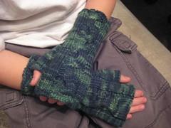 twisty fingerless mitts