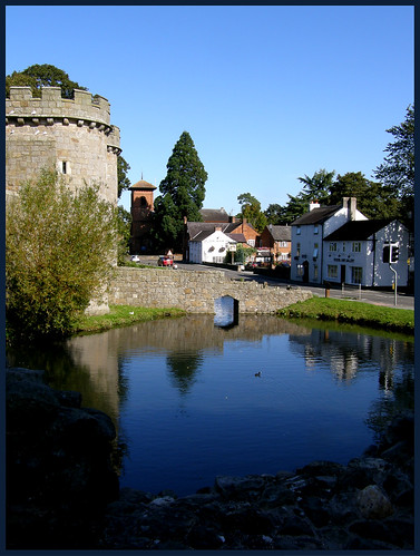 Castle, Church, Pub, Pond