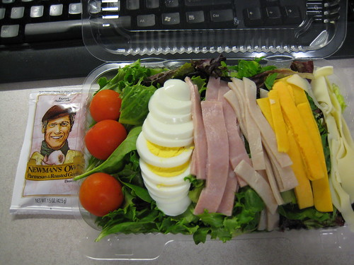 chef salad, newman's own salad dressing