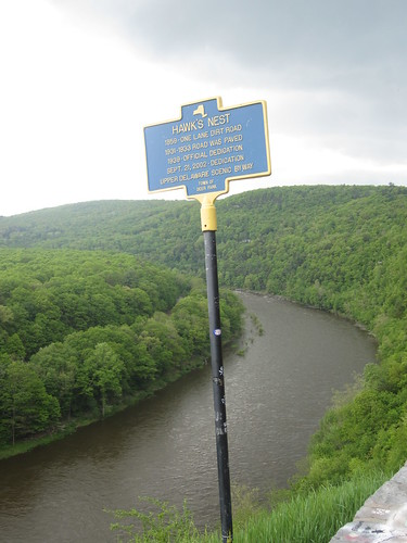 Hawk's Nest scenic overlook on Rt 97 Deerpark, New York