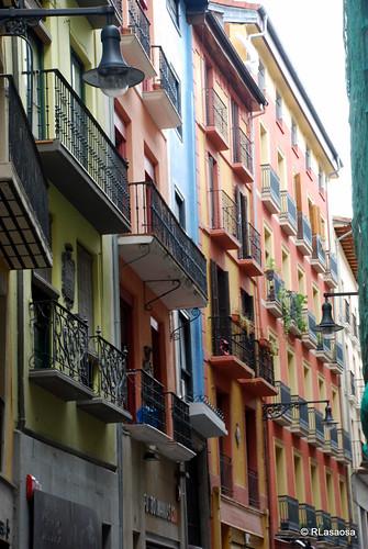 Fachadas de casas de la Calle Zapatería