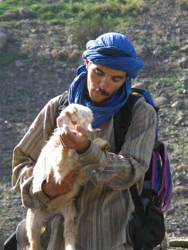 Toubkal trek - Mohamed makes a friend
