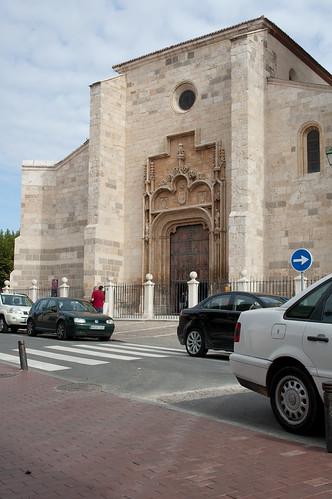 Puerta principal de la Iglesia Magistral en la actualidad