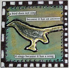 Birds Sing Meander Book Page