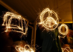 Making shapes with sparklers