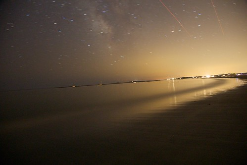 starry night at goose rocks beach