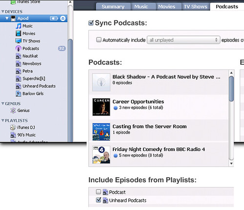 how to add a playlist to my ipod from itunes