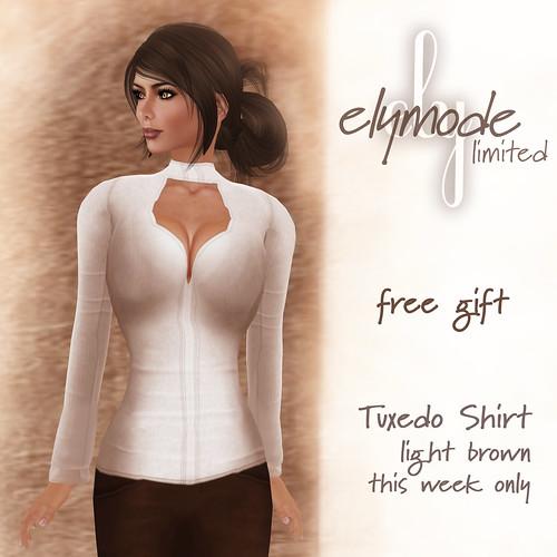 *elymode* tuxedo shirt limited
