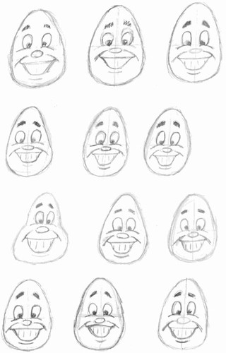 Preston Blair inspired drawings, part 7