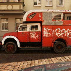 red motorhome