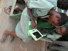 2 barefoot girls - Nigeria, Galadima School by One Laptop per Child