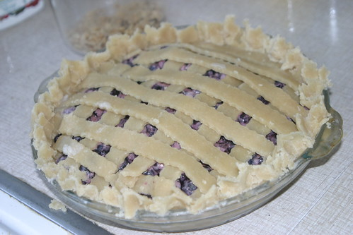 Blueberry pie, before baking