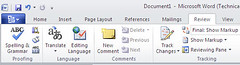 Microsoft Word 2010, New Office Button