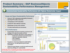 SAP BusinessObjects Sustainability Performance...