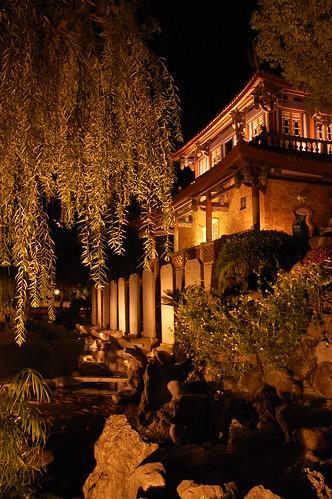 Tainan ChiKanLou at night