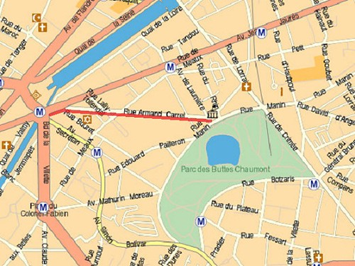 Buttes Chaumont - Mappy